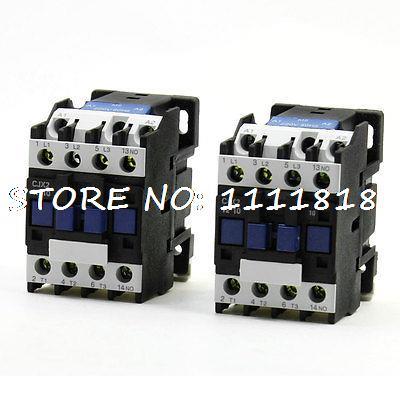 220V Coil Motor Control 3P+1NO DIN Rail Mount AC Contactor CJX2-1210 2Pcs220V Coil Motor Control 3P+1NO DIN Rail Mount AC Contactor CJX2-1210 2Pcs