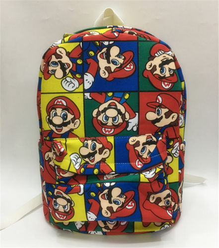 super mario brothers red canvas backpack shoulder bag 13 travelling storage ba
