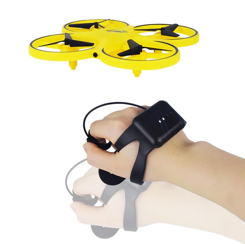 ZF04 RC Mini Quadcopter Induction Drone Smart Watch Remote Sensing Gesture Aircraft UFO Hand Control Drone  Altitude Hold  Kids 5