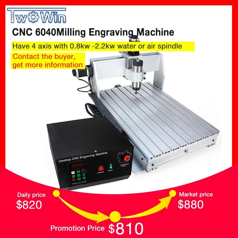 800 w/1.5KW CNC 6040 3 assi CNC router di legno di CNC intaglio macchina USB Mach3 controllo Lavorazione Del Legno Incisore macchina