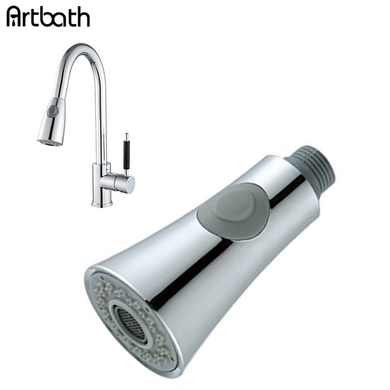 Pull Out Down Kitchen Faucet Spray Nozzle 360 Swivel Water
