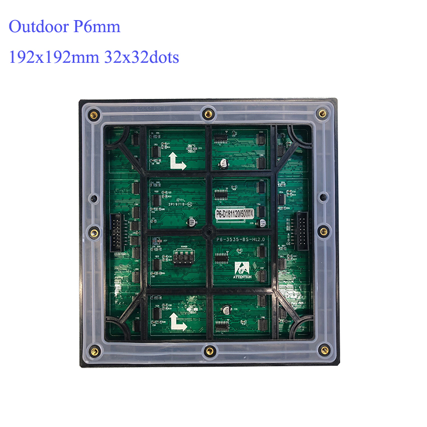12pcs Outdoor P6 192x192mm Led Module, 1pcs C10 Control Card, 2pcs 5v200W Power Supply, 1pcs Temperature And Time Sensor