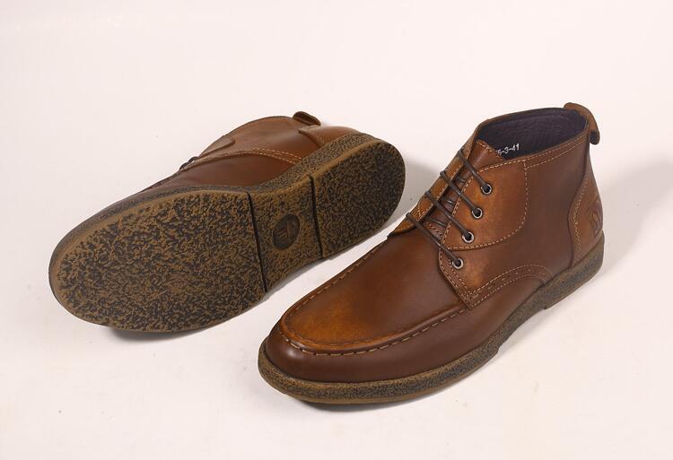Cheville Smart Cuir Hommes Lace Bottes Véritable Mocassin Chaussures Martin Montantes Vintage Robe En Casual Homme l3TcF1JK