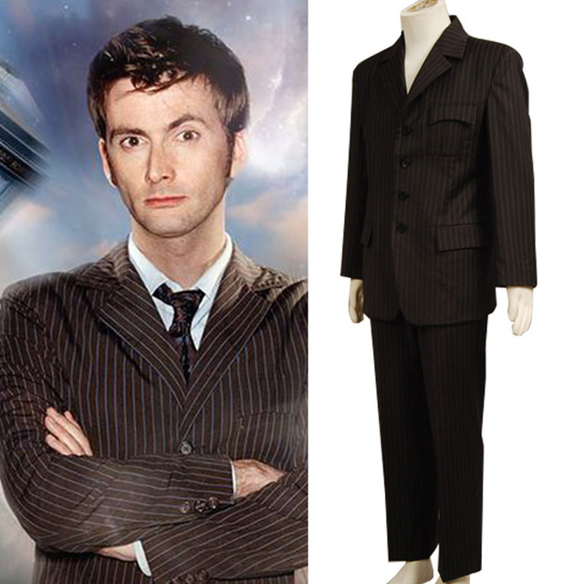 Express Free Shipping Doctor Who Tenth 10th DR. David Tennant Cosplay Costume Brown Suit Male  sc 1 st  AliExpress.com & Express Free Shipping Doctor Who Tenth 10th DR. David Tennant ...