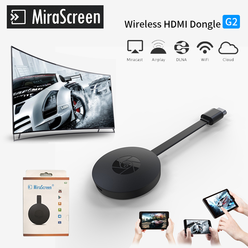 New TV Stick Wireless Dongle MiraScreen G2 TV Stick 2.4G HDMI 1080P HD TV Dongle Plug And Play Chrome Cast Google Chrome Cast chromecast 2 hdmi mirroring multiple wireless display receiver dongle mirascreen g2 adapter mini pc android tv stick chrome cast