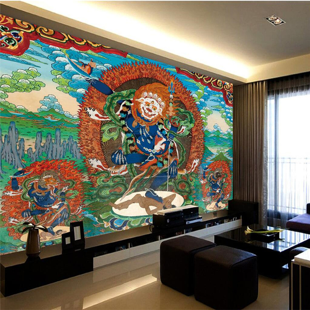 beibehang hd big buddha buddhist mural buddha like thangka custombeibehang hd big buddha buddhist mural buddha like thangka custom large mural environmental non woven wallpaper papel de parede