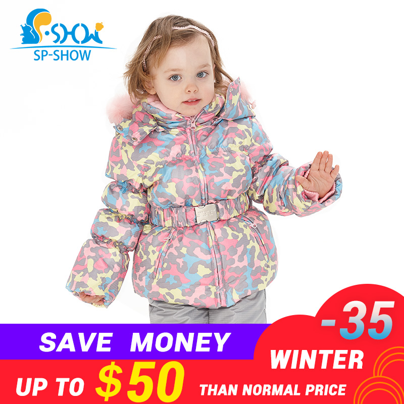1215223eb7 SPSHOW Kids Girls Winter Clothes Luxury Brand 3-8 Age Down Thick Warm  Fleece Winter