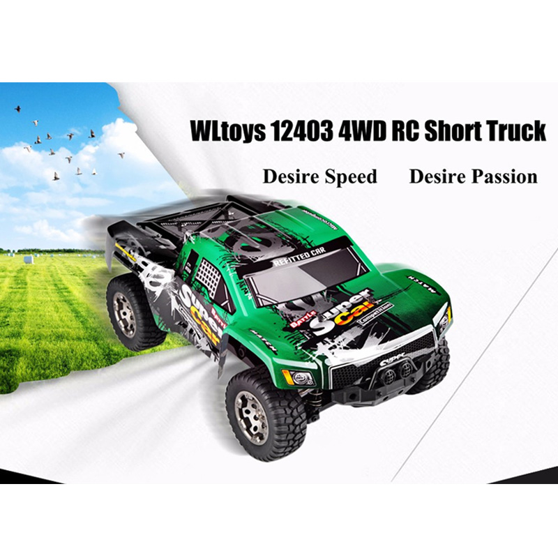 High Sd 45km H Vehicle Rc Car Electric Short Truck 1 12 Scale 2 4g 4wd 550 Motor Racing In Cars From Toys Hobbies On