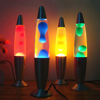 Thrisdar 25W Metal Wax Lamp Dazzling Volcanic Lava Melt Night Light Creative Table Lava Lamp For