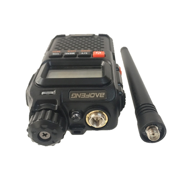 2PCS BAOFENG UV-3R+ Mini Walkie Talkie UHF VHF Portable CB Radio Transceiver UV3R Plus Amateur Ham Radio Station Woki Toki 3W 6
