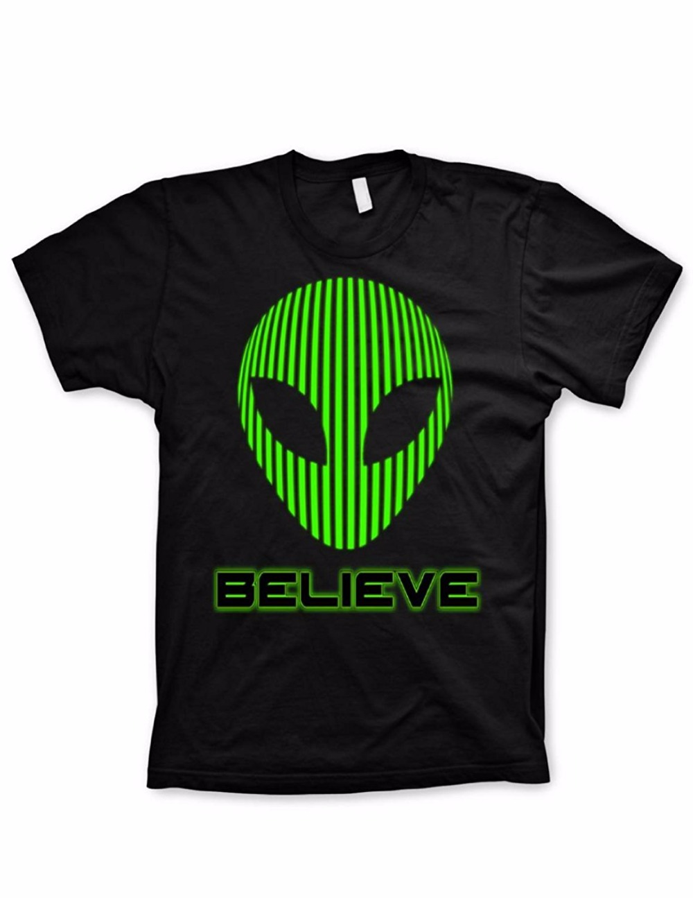 Work Shirts Short Alien Tshirt Believe Shirt Funny Tshirts Science Geeky Nerd Video Game Shirt Men Gift O-Neck Shirts