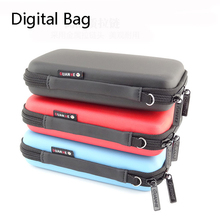 3 Color Mini Zipper Hard Headphone Case Diving Leather Digital Bag,Protective Usb Cable Organizer,Portable Earbuds Pouch box