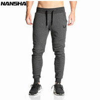 NANSHA Men Full Sportswear Pants Casual Elastic Cotton Mens Fitness Workout Pants Skinny Sweatpants Trousers Jogger