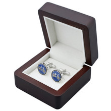 Luxury Cufflinks Box High Quality Wooden Box Display for Personal and Best Gift for Man