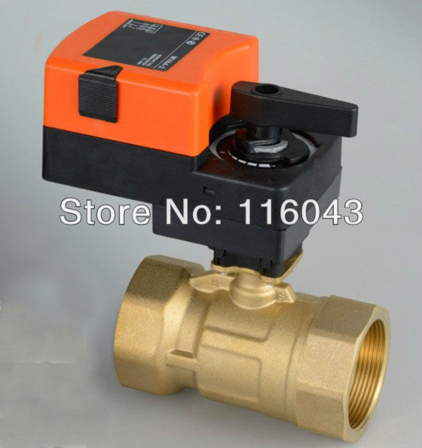 1/2'' Modulating valve, AC/DC24V 0-10V brass proprotion valve for flow regulation 2 proprotion modulating valve 0 10v ac dc24v 4 20ma brass valve for flow regulation or on off control water treatment hvac