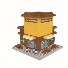 WISE HAWK Milk tea shop blocks ego nero legoe star wars duplo lepin brick minifigures ninjago guns duplo farm castle super