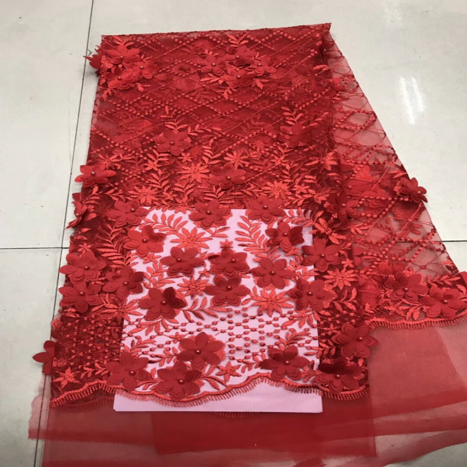 ⑧Nigerian lace fabrics for wedding 2018 Friench tulle lace fabric ...