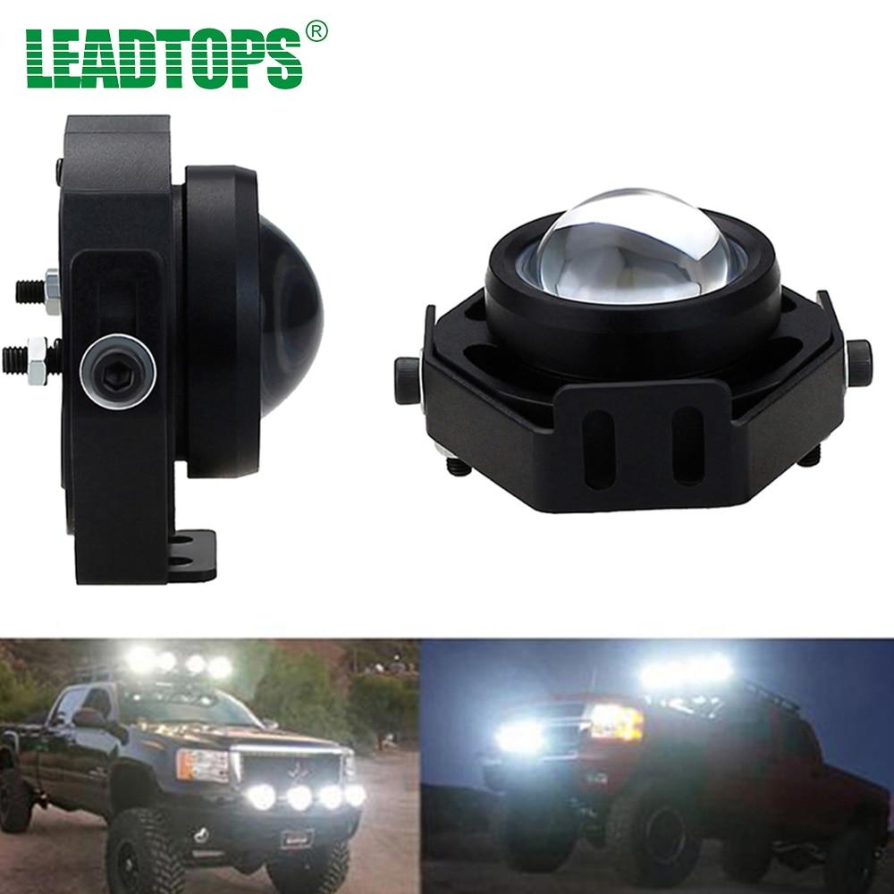 2pcs/Lot Super Bright Led Car Fog Light Waterproof 1000LM 10W DRL Eagle Eye Daytime Running Light Reverse Backup Park BH