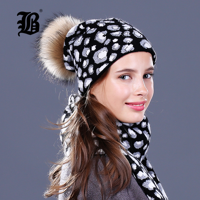 [FLB]Skullies Beanies Winter Hat For Women Warm Hat Fashion Knitting Warm Cap fur pompom Wool Hat Cap Leisure Fashion Winter Hat skullies hot sale candy sets color pointed hat knitting hat sets hat cap 1866951