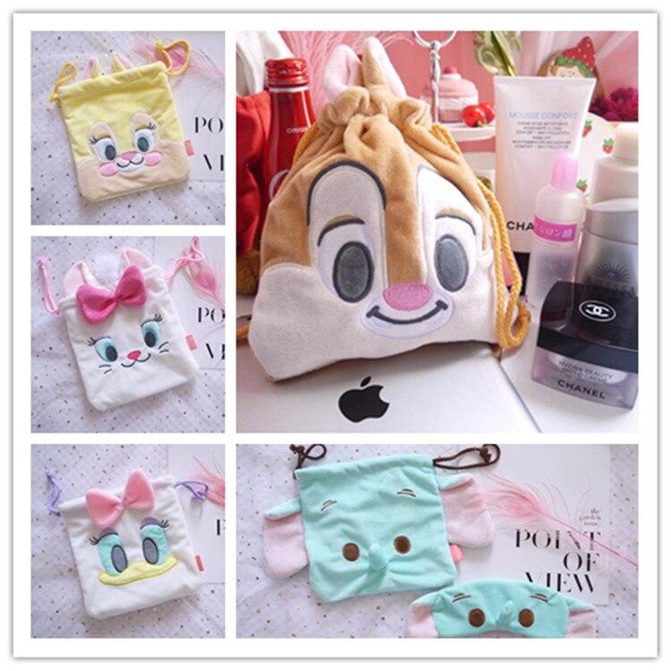 TSUM plush toy Marie Cat chipmunk Dumbo elephant soft storage drawstring bag Cute Christmas gift 19CM*21CM