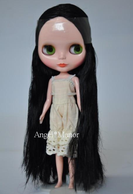 Free shipping Nude Blyth Doll, black5 hair, big eye doll,For Girl's Gift,PJb005 free shipping nude blyth doll black5 hair big eye doll for girl s gift pjb005