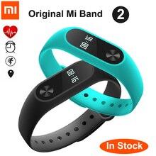 Оригинал Сяо Mi mi Группа 2 с oled-дисплей Сенсорная панель смарт-сердечный ритм фитнес Bluetooth браслет