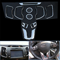 Fit For Kia Sportage R 2011 2012 2013 Inner Decoration ABS Chrome Trim Steering Wheel  DVD Outlet Trim Accessories car styling
