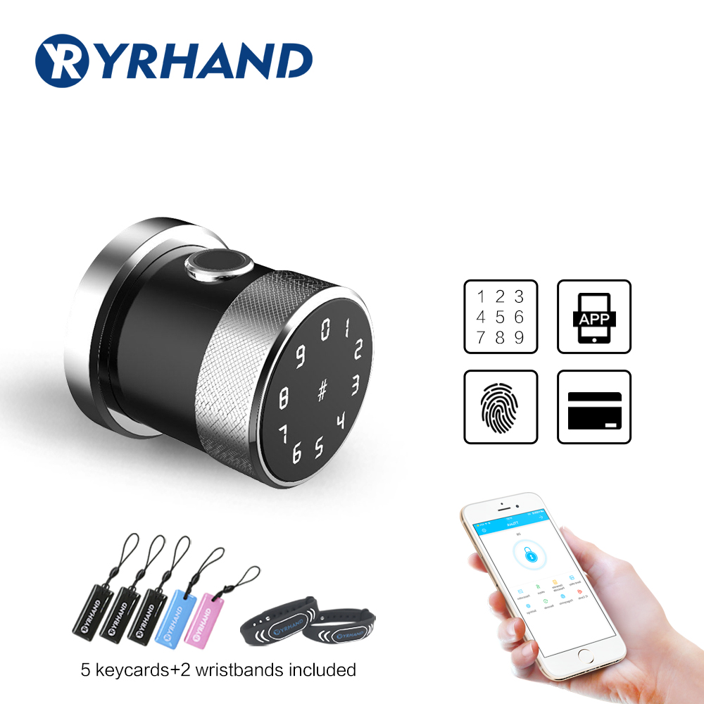 App Smart Digital electronic door lock WiFi Fingerprint biometric lock keypad Combination Knob Lock For home