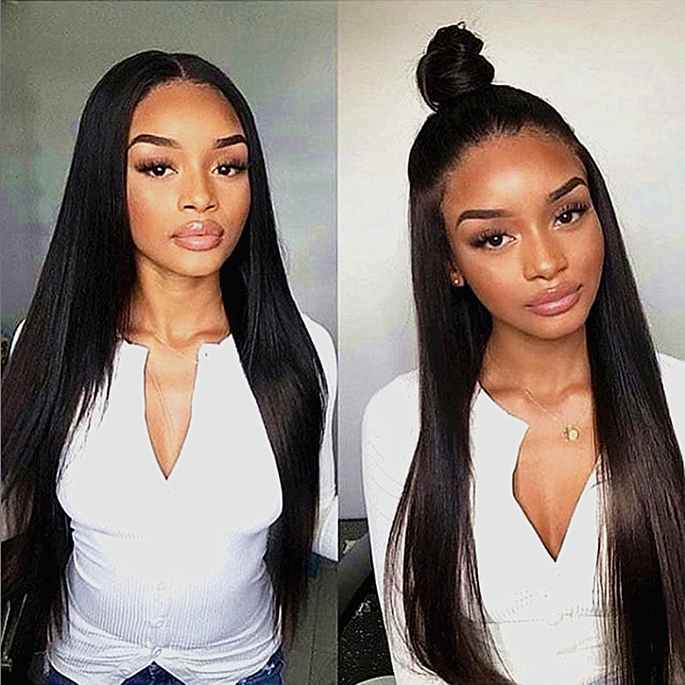 straight hair remy lace wig