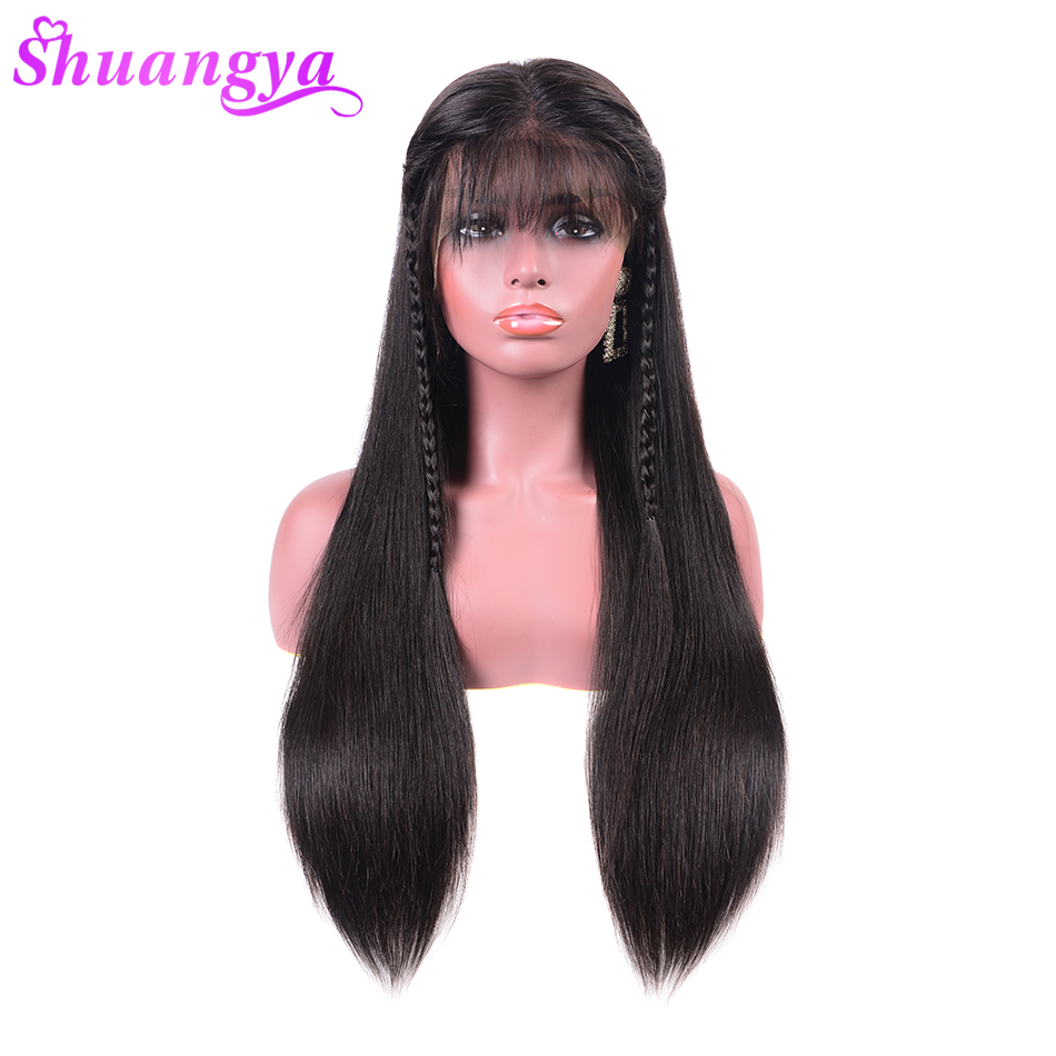 360 Lace Frontal Wigs Pre Plucked With Baby Hair Straight Lace Front Human Hair Wigs For