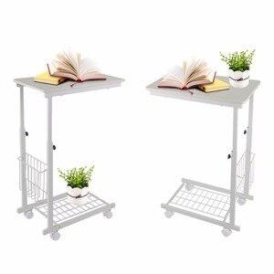 Image 1 - גובה מתכוונן שולחן עם גלגלים להסרה ספה צד קפה שולחן נייד צד שחור ערבה שולחנות נורדי פשוט ברזל שולחן