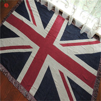Home decor Union Jack tapestry cotton polyester American Flag thread blanket wall carpet hanging sofa floor cover bedspread
