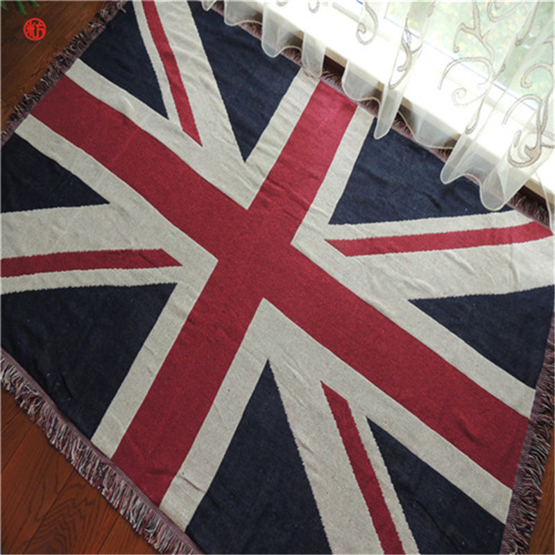 Home Decor Union Jack Tapestry Cotton Polyester American Flag Thread Blanket Wall Carpet Hanging Sofa Floor