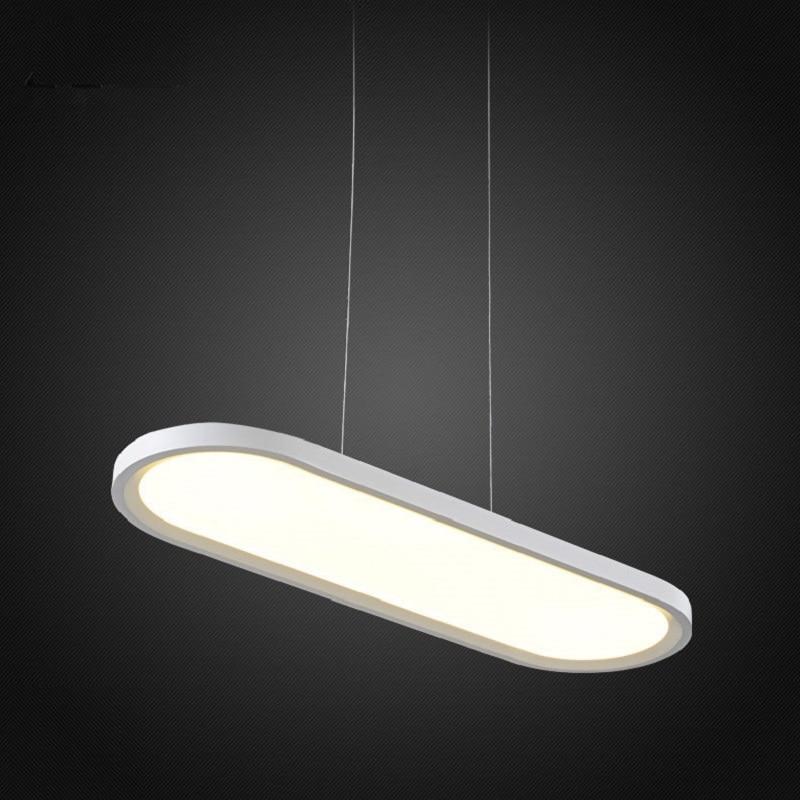 Jednoduché ultratenké moderní LED lustrové osvětlení akrylové lustrové stropní lustry pro jídelny Kancelářské domácí lampy 110V 220V