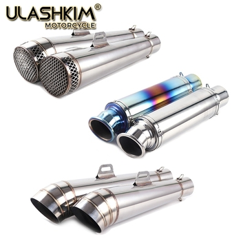 Universal 51mm 61mm project Motorcycle Exhaust Muffler Modified Stainless Steel Carbon Fiber Fit Most Motorbike
