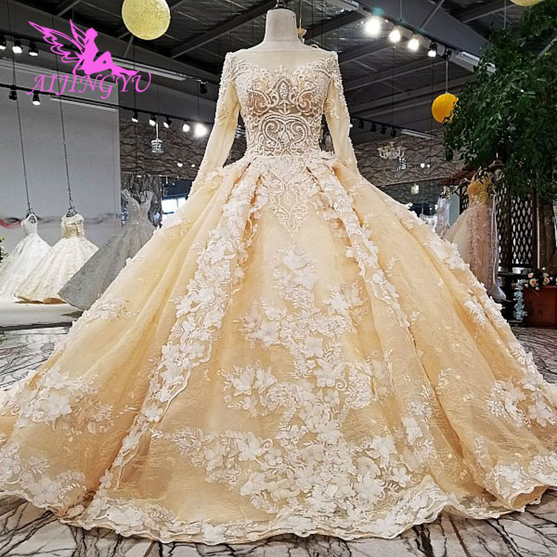 AIJINGYU Wedding Dress With Pearl Beautiful Gown For Sale Best Bridals In Turkey Plus Turkish Gowns Cheap Wedding Dresses