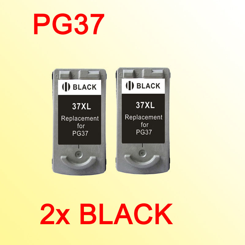 2x For PG37 PG 37 ink cartridge for canon IP1800 IP1900 MP210 MP220 MX300 MX310 printer