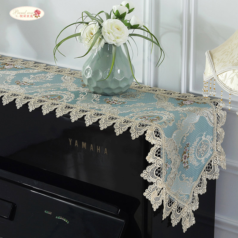 wholesale dealer presenting cute cheap US $14.28 40% OFF|Proud Rose Lace Table Runner Piano Towel Cover Cloth  Embroidery Table Cloth Piano Dust proof Cover Wedding Decoration-in Table  ...