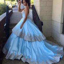 Special Two Layers Ball Gown Wedding Dress Custom Made Appliques Satin Bride Dresses Hochzeitskleid 2016