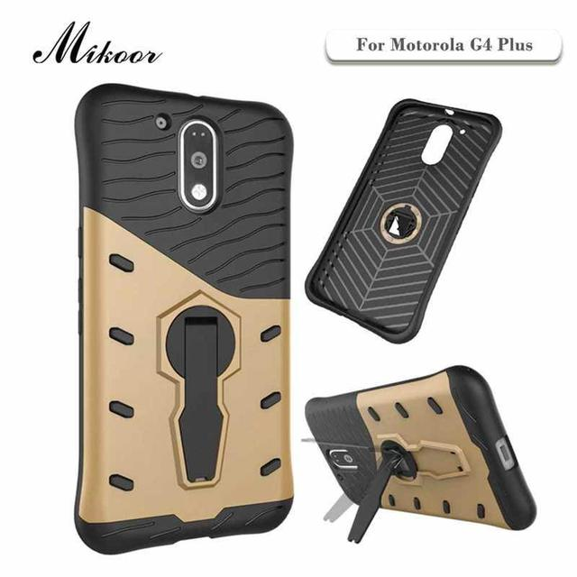 Mikoor Fashion Armor Stand Rotate 5.5For Motorola Moto G4 Plus Case For Motorola Moto G4 Plus Cell Phone Case Cover