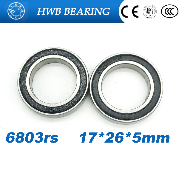 Free shipping 6803-2RS 6803 61803-2RS hybrid ceramic deep groove ball bearing 17x26x5mm