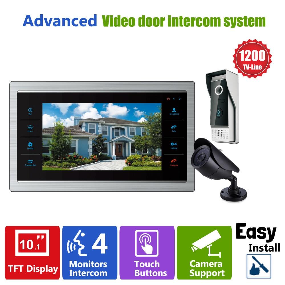 Homefong Porte Vidéo Caméra Vidéo Sonnette Système avec Caméra 3.7mm Objectif de Sécurité 1200TVL 1V1V1 Maison Appartement Entrée Kit