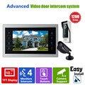 Ysecu двери видеокамера видео-дверной звонок система с камеры-обскуры-4 3.6 мм объектив безопасности 1200TVL 1V1V1 главная квартира комплект