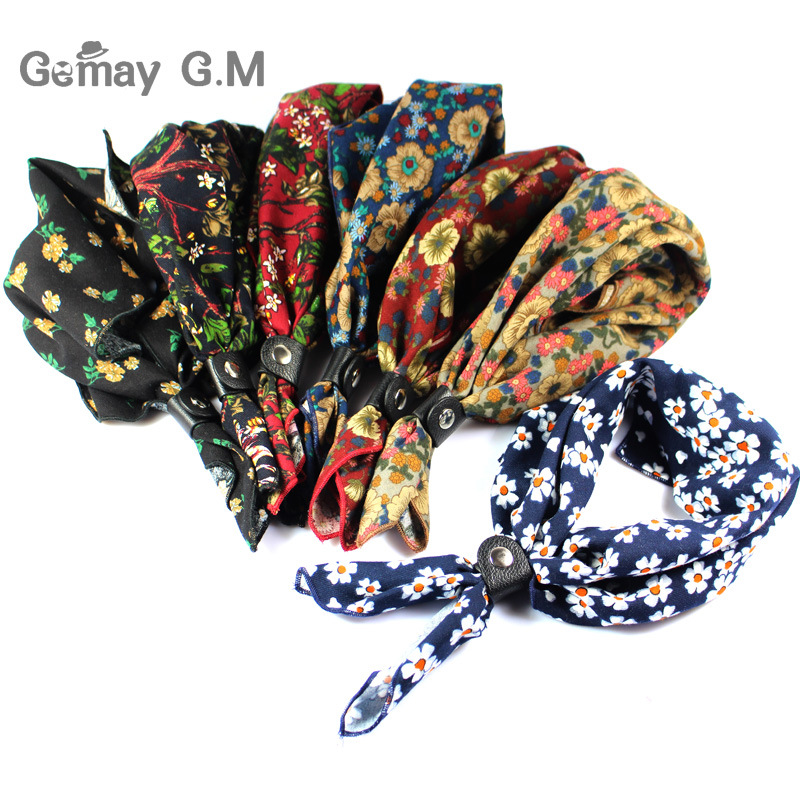 Men Vintage Print Wedding Formal Cravat Ascot Scrunch Self British style Gentleman Cotton Neck Tie Luxury