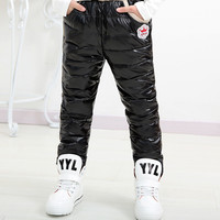 Fashion Baby Boy Girl Pants Casual Ropa Infantil Brand Winter Toddler Kids Clothes Warm Down Trousers