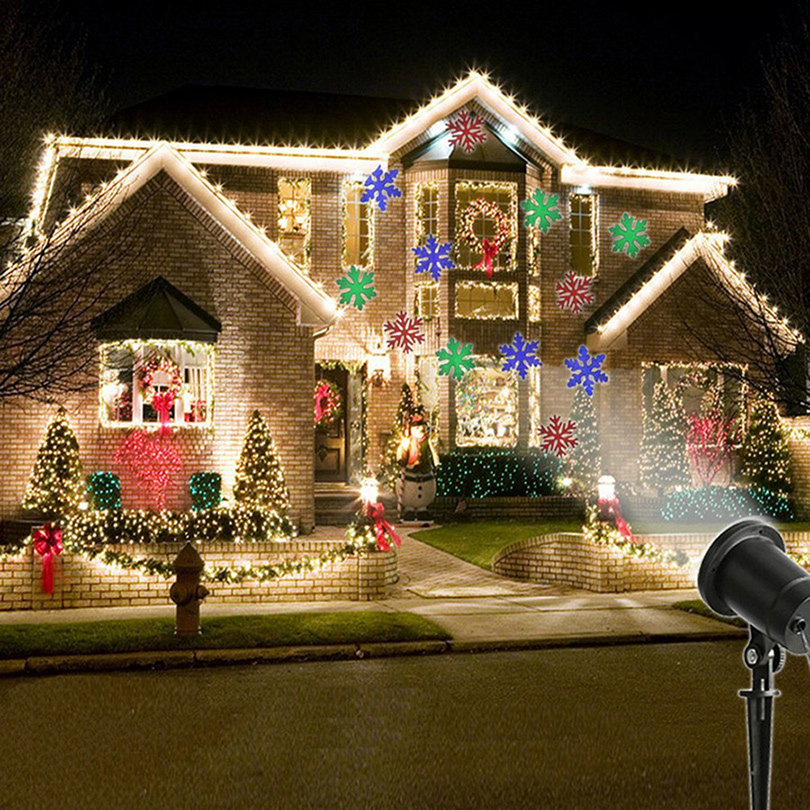LED Laser Projector Snow Light Outdoor Waterproof Spotlight Moving Head Garden Light For All Holiday Christmas Party Stage Decor