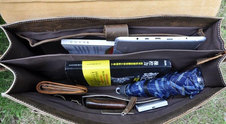 Erste Horse Aktentasche Rindleder Brown 16 Crazy brown Deep tasche Business Schicht Laptop Zoll Handtasche Echtes Männer Vintage tasche Leder qtwqnHpxZr