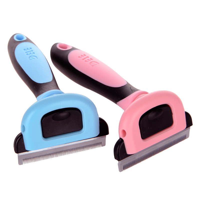 2 Color Pet Dog Cats Hair Grooming Brush Pet Dog Shedding Comb Trimmer Puppy Kitten Hair Clipper Comb Removing Shedding Fur 2