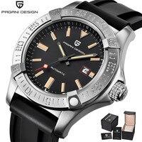 PAGANI DESIGN Casual Fashion Silicone Strap Men Watch Luxury Top Brand Waterproof Automatic Mechanical Watches Relogio Masculino