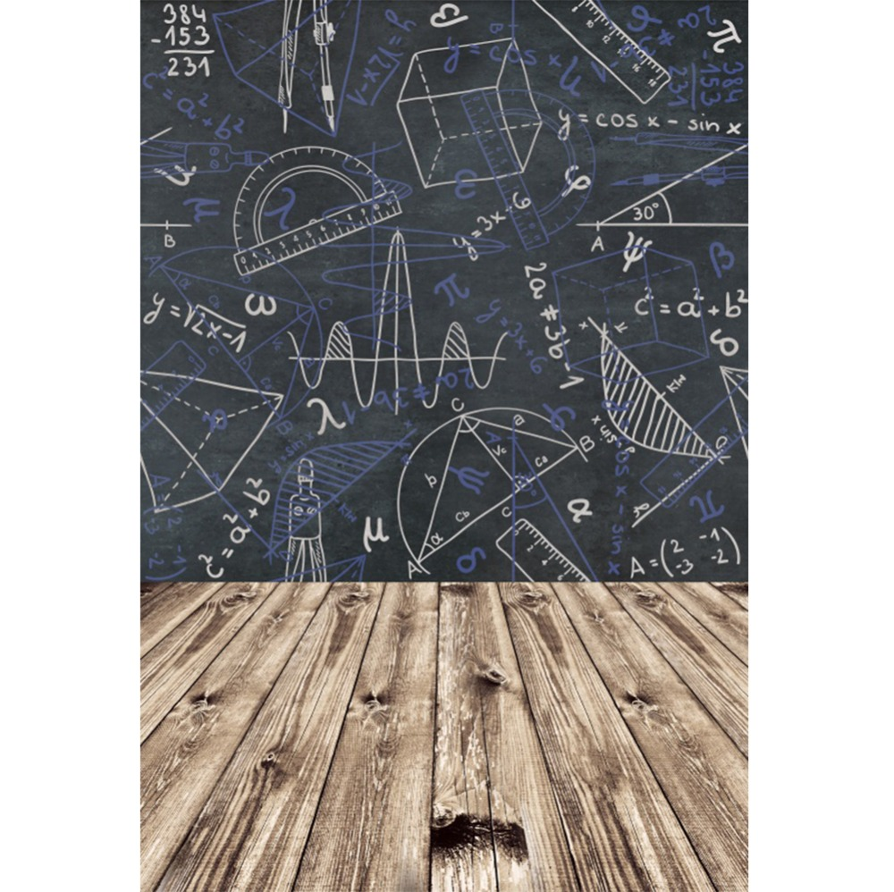 Laeacco Blackboard Geometric Patterns Wooden Floor Baby Photography Background Customized Photographic Backdrop For Photo Studio in Background from Consumer Electronics